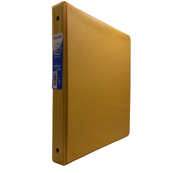 """1"""" O-Ring Binder Yellow #SAM11306"""